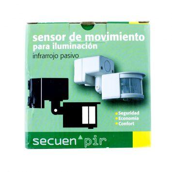 SENSOR INFRARROJO PASIVO P/ILUMINACION 1000W COBERTURA 110º P/TECHO O PARED BLANCO