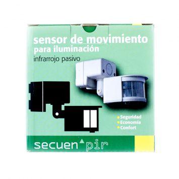 SENSOR INFRARROJO PASIVO P/ILUMINACION 1200W COBERTURA 200º P/TECHO O PARED BLANCO