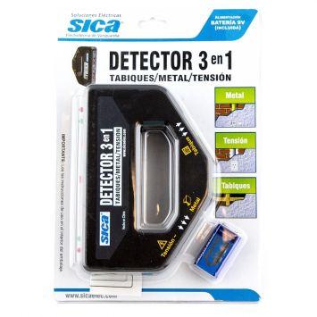 Detector 3 en 1 - detección de tabiques metal y tensión- sica