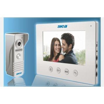 Kit video portero color manos libres pantalla 800(h) x 480(v) -sica-