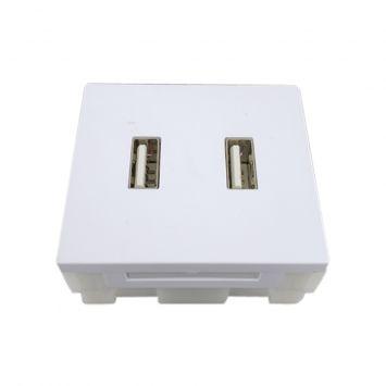Modulo cargador usb doble 31a blanco puro