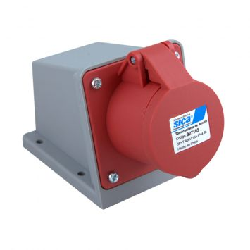Toma base industrial exterior 3p+tierra 16a 230vca ip44