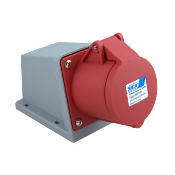 Toma base industrial exterior 3p+tierra 32a 230vca ip44 sica