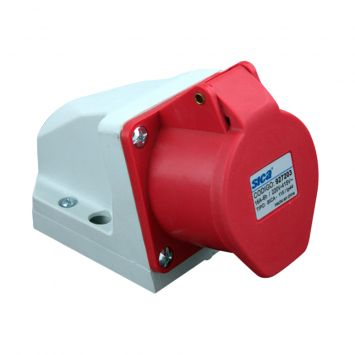 Toma base industrial exterior 3p+n+tierra 16a 230vca ip44