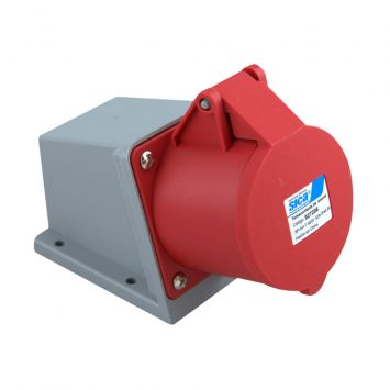 Toma base industrial exterior 3p+n+tierra 32a 230vca ip44