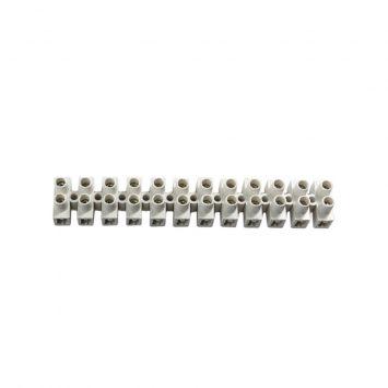 Bornera unipolar flexible  2.5mm a 4mm tira x 12 bornes 25a 380v