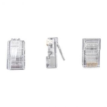 Conector modular plug rj45 macho categoria 5 de 8 contactos amp
