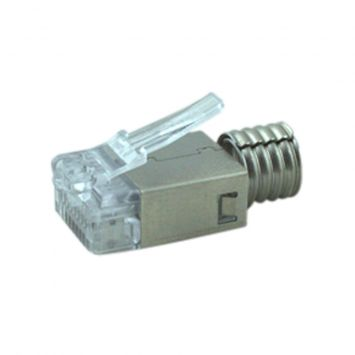 Conector modular plug solido rj45  categoria 6  de 8 contactos amp