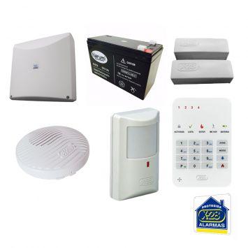Kit sistema alarma + accesorios n4-mpxh+b127n+t4m-mpxh+m300+smsb+s15p
