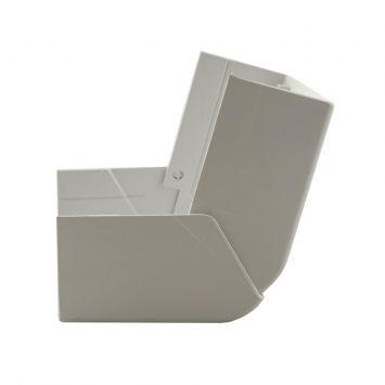Accesorio p/cablecanal unicanal ckd curva exterior ls-100-50 blanco