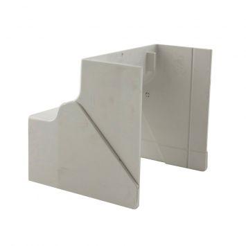 Accesorio p/cablecanal unicanal ckd curva interior  ri-100-50 blanco