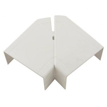 Accesorio p/cablecanal unicanal ckd curva plana 90º ele-100-50 blanco