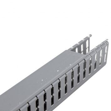 Cablecanal ranurado plastico 40 x 60 gris - tira 2 mts-