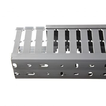 Cablecanal serie industrial ranurado 60x80mm  gris ckn-060-80 tira x 2metros