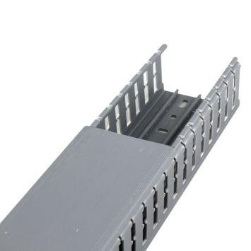 Cablecanal ranurado 80 x 80mm gris  tira 2 metros