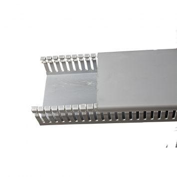 Cablecanal serie industrial ranurado 100x50mm gris ck-100-50 tira x 2metros