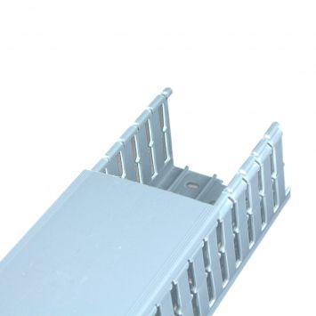 Cablecanal ranurado 100 x 80mm gris  tira 2 metros