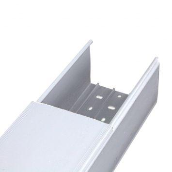 Cablecanal sin ranurar 100 x 80mm gris  tira 2 metros