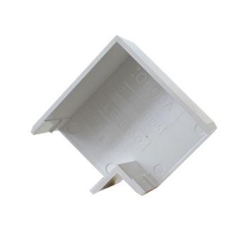 Accesorio p/cablecanal 27x30mm curva plana ele-2730-bl blanco