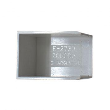 Accesorio p/cablecanal 27x30mm tapa final e-2730-bl blanco