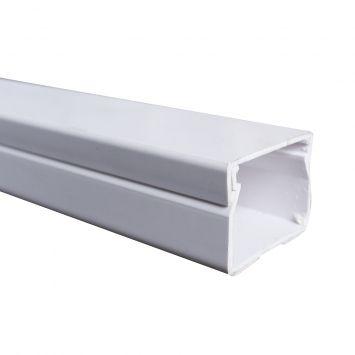 Cablecanal plastico 40x30mm c/adhesivo blanco ec-4030abs modutec tira x 2metros