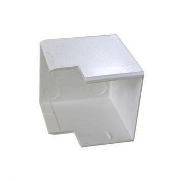 Accesorio p/cablecanal 40x30mm curva externa ls-4030-bl blanco
