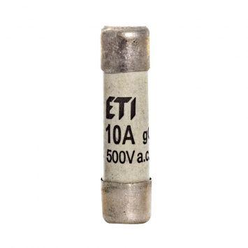Fusible cilindrico  de proteccion 38 x 10mm  10a  500v  120ka