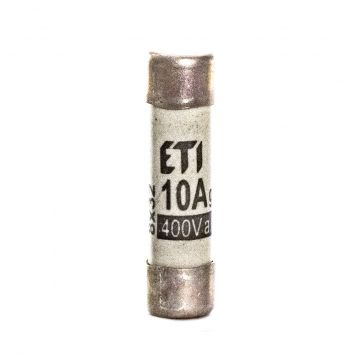 Fusible cilindrico  de proteccion 31 x 8mm  10a  400v 50ka