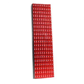 Anillo identificador omega p/cables de 1-2.5mm icab-02/0-c numero 2 rojo  x caja