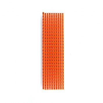 Anillo identificador omega p/cables de 1-2.5mm icab-02/0-c numero 3 naranja x caja