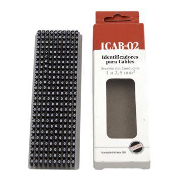 Anillo identificador omega p/cables de 4-6mm icab-03/0-c numero 0 negro x caja