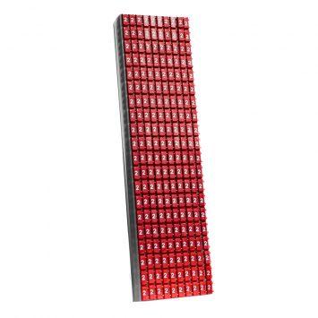 Anillo identificador omega p/cables de 4-6mm icab-03/0-c numero 2 rojo x caja