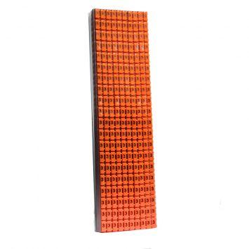 Anillo identificador omega p/cables de 4-6mm icab-03/0-c numero 3 naranja x caja